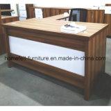 Mesa da mobília de escritório com a tabela de madeira do escritório da tabela do retorno do lado