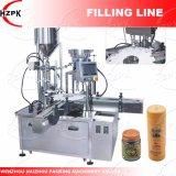 Liquide rotatif et coller le remplissage et de plafonner la machine