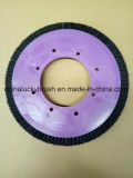 紫色カラープラスチック版の剛毛の車輪のブラシ(YY-680)