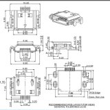 Micro- USB 7f SMT B de Omgekeerde Schakelaar van het Type (shell ONDERDOMPELING 9.9mm)