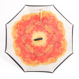 全天候用のためにゴルフ反紫外線屋外の傘旅行防風の傘を広告する車雨屋外の使用のための逆にされた及び逆の傘