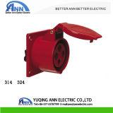 Waterdichte 16A 32A 380-415V 4pin Industriële Contactdoos 314 324 van het Comité