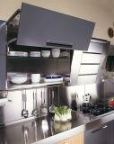 二重カラーハンドルが付いているWoodgrainによって塗られるステンレス鋼の台所