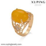 Color oro 18K Ovalados ópalo amarillo Anillo de dedo estilo real Kamar Bandh indígena Joyería