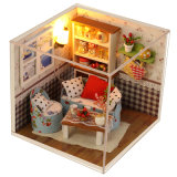 Casa de muñecas en miniatura de madera al por mayor de bricolaje de artesanía para niños