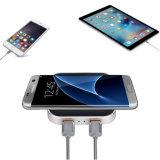 Qi-schnelle Standardaufladeeinheits-drahtlose aufladennabe mit USB für iPhone 8 und Samsung S8