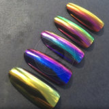 Le néon Chameleon Pigment miroir Chrome clous trempage d'UV Gel