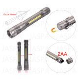 Linterna de aluminio de enfoque del LED (15-1H1703 2AA)