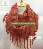 Самые новые женщины зимы кашемира связали грелку шеи способа шарфа безграничности