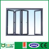 Porta de dobradura de alumínio da ruptura térmica com vidro dobro