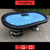 Pés de disco Oval Casino Poker Tabela padrão de fábrica 10 jogadores Ym-Tb021