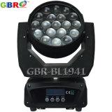 Lumière principale mobile de zoom de Gbr-Bl1941 19X15W RGBW 4in1 DEL