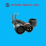 黒くか白いワイヤー長さ40cm LED 2 Pin 3 Pinの防水プラグ