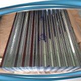 Tôle ondulée sur les panneaux de toiture plaque de zinc PPGI/gi feuille de matériau de la bobine