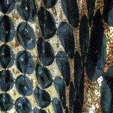 Taffeta com tecido de poliéster para Hometextile Sequin bordados