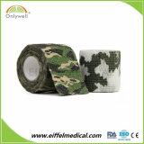 Bandage cohésif auto-adhésif de sport d'armée de camouflage médical de type