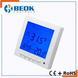 Termóstato de la calefacción por el suelo con el termóstato grande del sitio de la pantalla del LCD