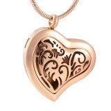 Ожерелье отражетеля эфирного масла золота Rose сердца нержавеющей стали