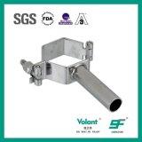 Hexagonal de acero inoxidable higiénico soporte de tubo de accesorios de tubería