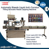 Relleno de Ytsp600 6heads y máquina que capsula 2heads para el alcohol
