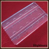 Placa de placa desobstruída personalizada do vidro de quartzo do silicone com sulco