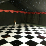 Type en bois blanc noir Marley portatif Dance Floor Dance Floor en bois