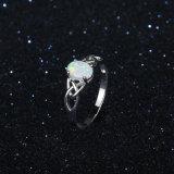 作成されたOpalリング925の銀製の方法金のダイヤモンド指輪の宝石類