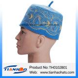 África la oración musulmana de fieltro de lana bordados Hat