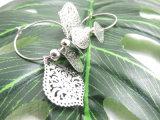 형식 원형 굴렁쇠 숙녀를 위한 펀던트 잎 모양 보석 귀걸이
