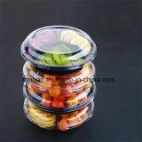 Transparente freie Supermaket Nahrung/Frucht-verpackenkasten/Tellersegment