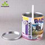 Barattolo di latta rotondo stampato del metallo da 1 gallone con il coperchio e la maniglia per vernice