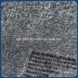 Papier peint gravant en relief argenté dissolvant de texture d'Eco de ventes en gros