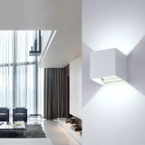 Светильник стены СИД алюминиевый водоустойчивый, белый свет 2 СИД света стены 6W 85-225V 6000K регулируемый напольный