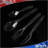 Couverts en plastique biodégradables de PLA 2016 Jx151, cuillère de fourche de couteau