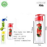 Het Type LFGB, FDA Fles van Drinkware van het Water Fruit van het Certificatie van de Sport de Plastic