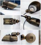 Lumière en laiton extérieure réglable de jardin de pouvoir d'angle de faisceau avec IP65