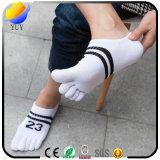 Calcetines ocasionales modificados para requisitos particulares de los calcetines de la punta del diseño cinco del número