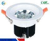 Ponto elevado Downlight do diodo emissor de luz da ESPIGA AC85-265V 6W 10W 20W do lúmen Shap/