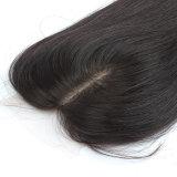 Fechamento brasileiro natural do laço do cabelo humano da cor 100% do cabelo de Remy