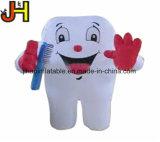 Populärer aufblasbarer weißer Zahn-Helium-Ballon für Förderung