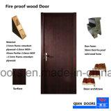 Fuego de la puerta de madera maciza puerta de entrada de calor
