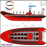 9.5mの膨脹可能なエアーバッグFRPの肋骨のボート