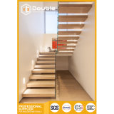 Bande de roulement en bois Escaliers avec balustrade escalier moderne en verre