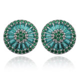 Bijoux de fantaisie de cuivre en laiton zircone Stone Stud Earrings
