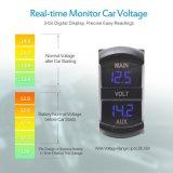 Красный светодиодный индикатор цифровой вольтметр двойного назначения Главного Aux, кулисный переключатель вольтметра напряжение в стиле монитор для автомобиля подборщик RV погрузчик два аккумулятора,