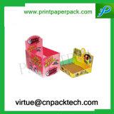 Caramelo de encargo de la alta calidad o rectángulo de papel de la visualización de la tarjeta con la impresión de color