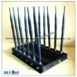 12-antenne de Mobiele Stoorzender van Signal+WiFi+GPS+Lojack+433/315/868 Mhz/Blocker van de Inhibitor, de Mobiele Stoorzender van het Signaal van de Telefoon/Inhibitor/Blocker