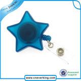Bobina di plastica del distintivo di figura della stella con il morsetto a coccodrillo