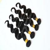 Черный волнистые волосы удлинитель Weft по правам Виргинских