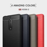 Аргументы за Nokia5 телефона задней стороны обложки волокна углерода TPU противоударное